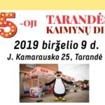 KAIMYNŲ DIENOS TARANDĖJE JAU 5-ą KARTĄ! 2019-06-09